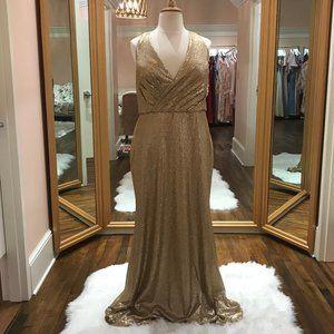 Plus Size, Floor Length, Full Sequin Gown